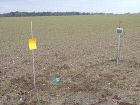 Soil moisture probe installation